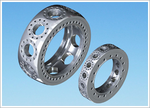 UHV Vacuum Chambers Having 12 Or 16 Equally Spaced Radial Ports Between 2 Larger Parallel