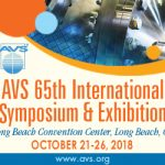 AVS 65th International Symposium & Exhibition 2018